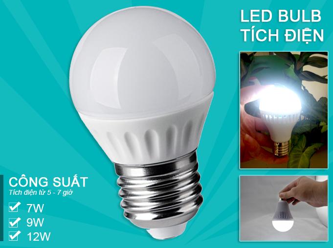 đèn led tích điện