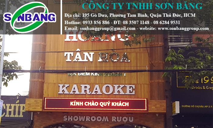 thi công bảng hiệu karaoke đẹp