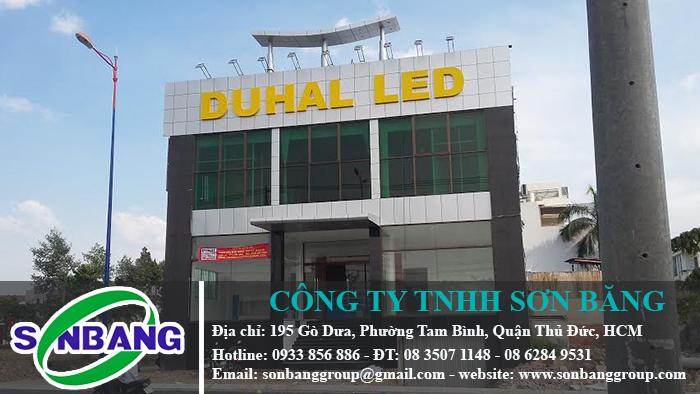 Ốp mặt dựng tòa nhà Duhal Led