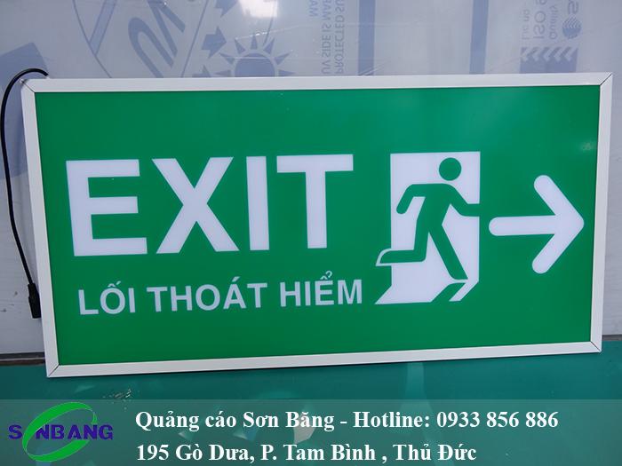 Đèn exit chỉ dẫn lối thoát