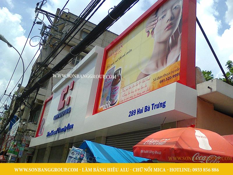 bảng hiệu cửa hàng thuốc mỹ phẩm làm đẹp