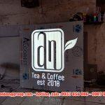 Mẫu hộp đèn quảng cáo bảng hiệu cafe đẹp