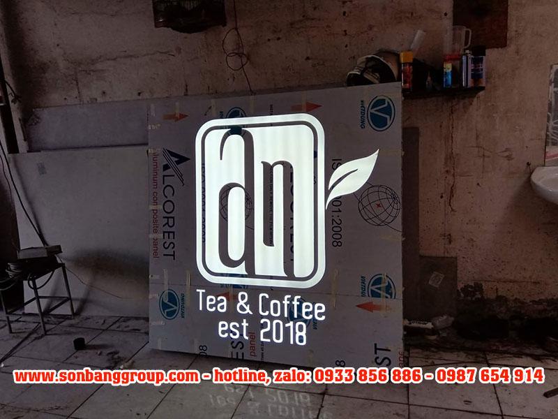 hộp đèn quán cafe đẹp
