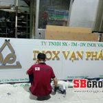 Bảng hiệu công ty sản xuất Inox