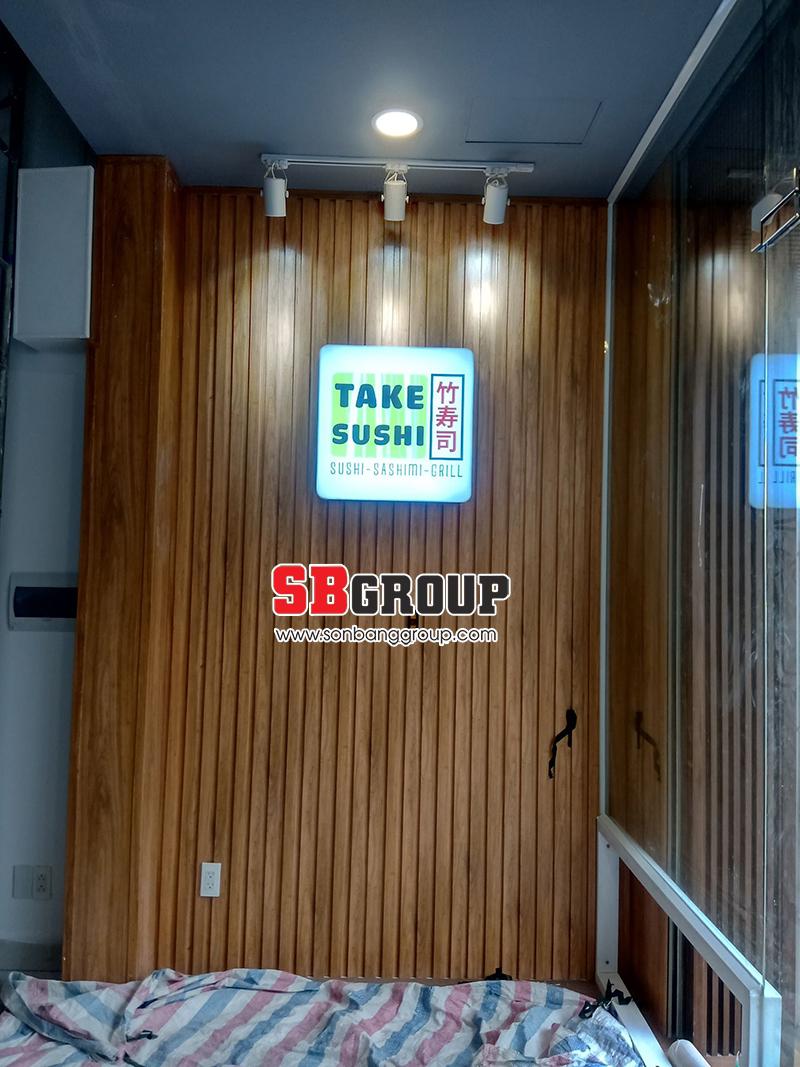 Lam nhựa ốp tường trang trí nhà hàng