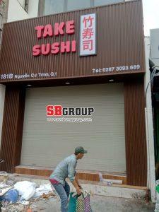 bảng hiệu nhà hàng sushi