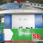Backdrop ốp tường showroom công ty