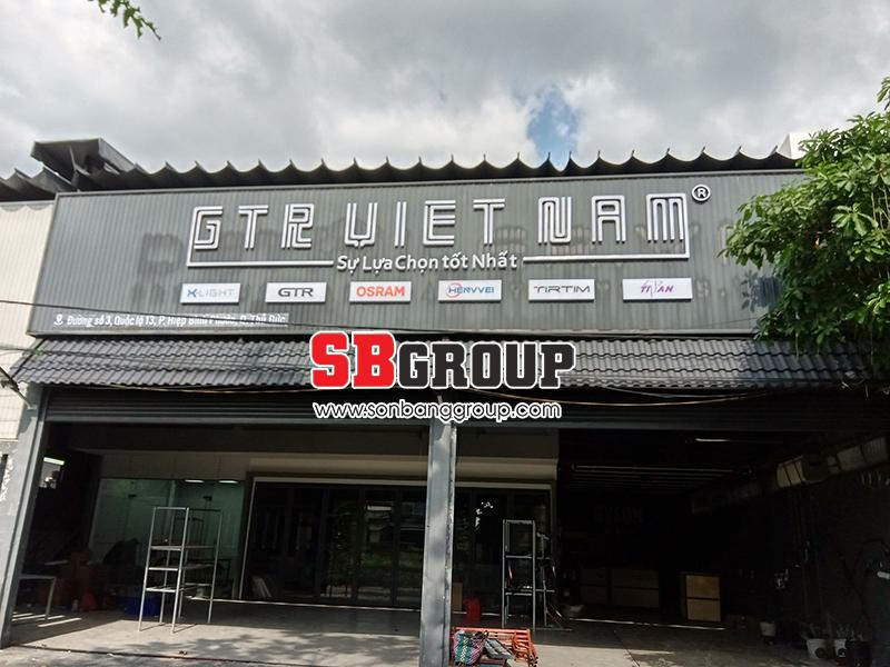 Mẫu bảng hiệu shop đẹp xin liên hệ với SBGROUP.